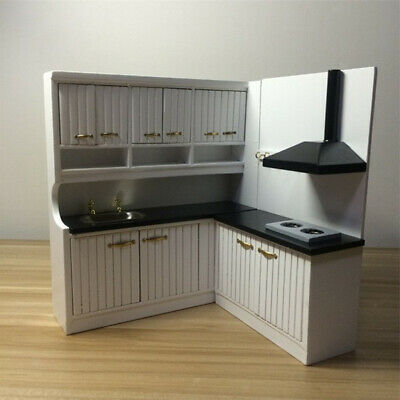 Prettyia 1/12 Dollhouse Miniature Luxury Kitchen Cupboard Cabinet Accessory