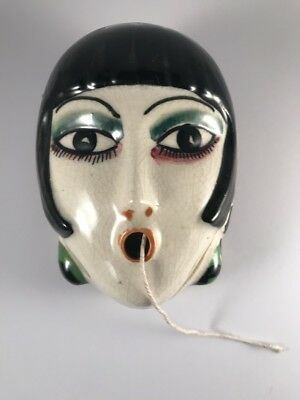 STUNNING 1930s ART DECO FLAPPER GIRL STRING DISPENSER - FREE POSTAGE TO AUS