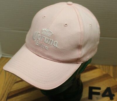 Womens Corona Extra Beer Hat Pink Embroidered Strapback Adjustable Vgc F4 4c0e2436e