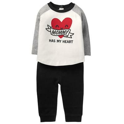 NWT Gymboree Sweetheart Shop Mommy Heart Baby Boys Shirt Pants Outfit Valentines
