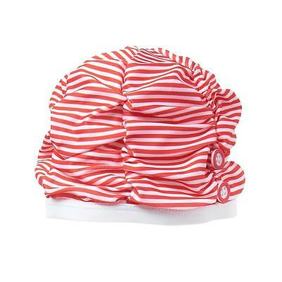 150ed3488d NWT GYMBOREE SUNSET Glow Baby Girls Raspberry Red Floral Swim Cap 0 ...