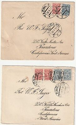 Russia/latvia Lot Of 5 Covers, 1902-1911 W/2 Enclosures