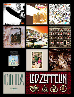 "LED ZEPPELIN album discography magnet (4.5"" x 3.5"") pink floyd stones beatles"