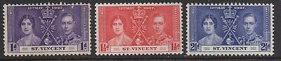 St. Vincent -  KG VI Coronation - MNH Set of 3