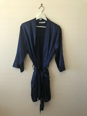 BRIDES TRIBE ROBE Maid of Honour, Navy Silk Dressing Gown