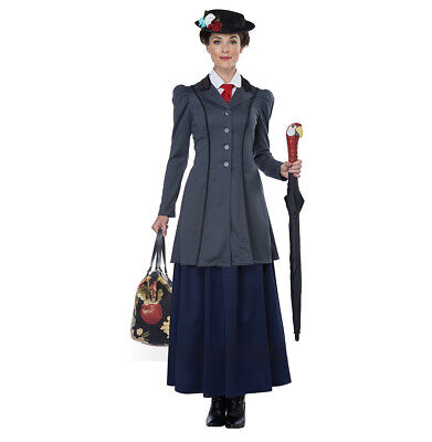 Women/'s English Nanny Mary Poppins Adult Costume XL