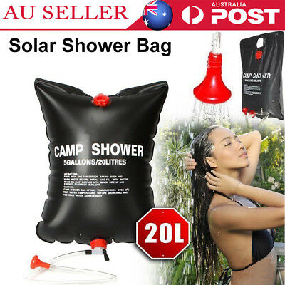 20L Outdoor Camping Solar Heated Water Pipe Camping Hiking Solar Shower Bag AU