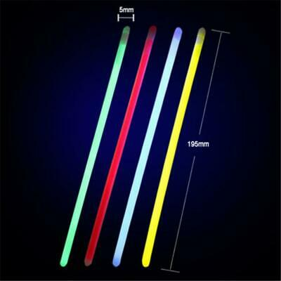 100x Glow Sticks Bracelets Necklaces Fluorescent Neon Light Sticks Party 8 Inch