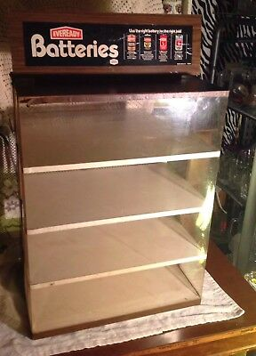 Vintage Large Eveready Batteries Store Display Counter Top