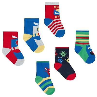 Baby Boys Socks Pack Of Three Four Great Designs Shoe Size 0-0 0-2.5 3.5.5