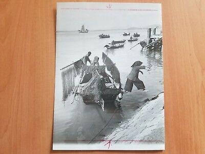 Rare China Fisherman Macao Hong Kong Typical Scene Vintage Photo 1959