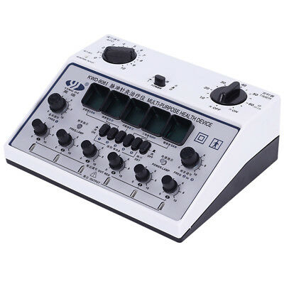 Electric Massager instrument Acupuncture Machine 6 Output Patches Stimulator New
