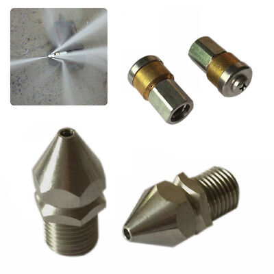 3 Jet/4 Jet High Pressure Drain Nozzle Washer Sewer Pipe Laser Cleaning Jet
