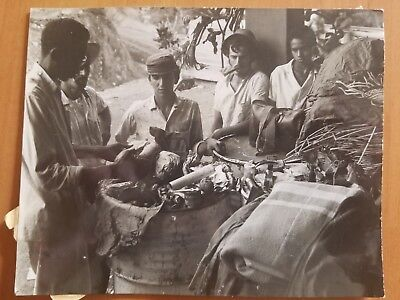 Rare Cuba Cuban Rebel Fidel Castro Army Stamped Korda Vintage Photo 1959