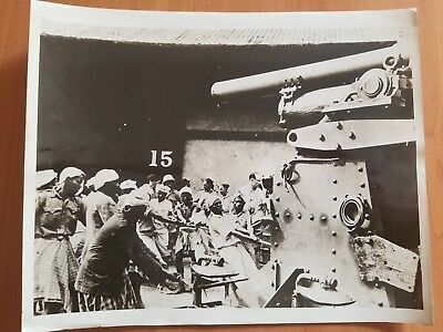 Rare Singapore Port Army Tank Fight Vs Japanese Malaya Vintage Photo 1941