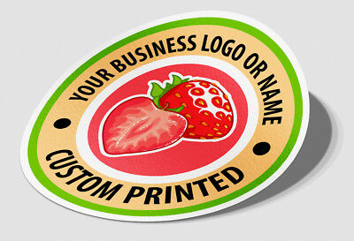 Business stickers round circle logo work sign custom Packaging label shop front