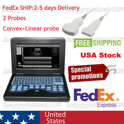Promotion!New Portable laptop machine ultrasound scanner with Convex+Linear