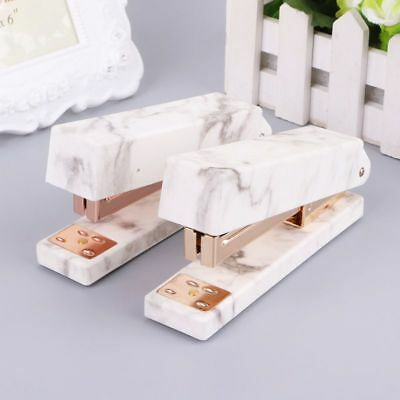 Marble Texture Stapler Manual Staples For Student School Office Home Stationery