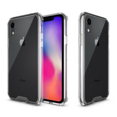 Clear Acrylic + Soft TPU Hybrid Phone Case Cover for iPhone XR 6.1 inch New