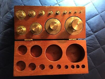 Vintage Brass Scale Wheights