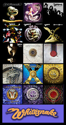 "WHITESNAKE album discography magnet (4.5"" x 3.5"") flesh and blood"
