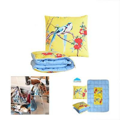 Roll Bedding Over Image To Zoom Soft Quilt Throw Convertible Travel Blanket For
