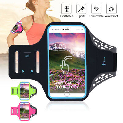 Cell Phone Armband Case for iPhone Xs Max Xr 8 Plus W/ Adjustable Elastic Band