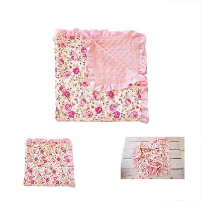 Baby Toddler Blankets Floral Soft Blankie With Satin Binding For Infants & Kids