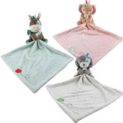 Security Blanket Baby Hold Cartoon Toys Bite Towel Newborn Sleeping Comforter Z