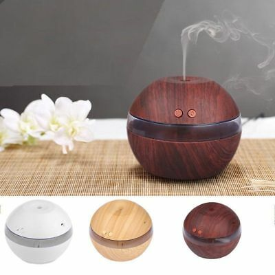 300ml USB Air Purifier Aroma Essential Oil Diffuser LED Ultrasonic Humidifier LS