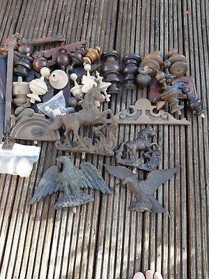 Wooden clock finials and other bit