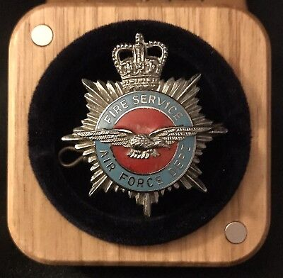 British Air Force Dept. Fire Service Cap Badge