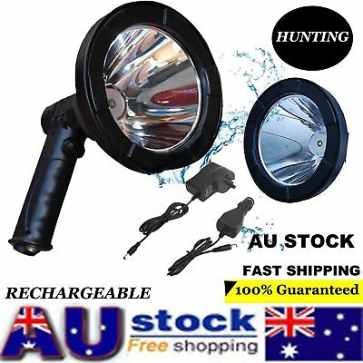 35W 12V CREE Handheld Spot Light Rechargeable  LED Spotlight Hunting Shooting FA