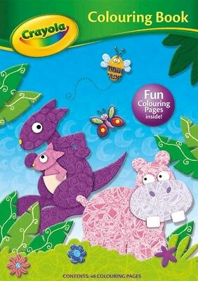Crayola Colouring Book Hippo Cover 48 Page for Kids Children Learn Fun Gift NEW