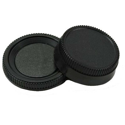 BODY AND REAR LENS CAPS FOR CANON EOS CAMERA & EF & EF-S LENS 5D 7D 60D 400D Fin