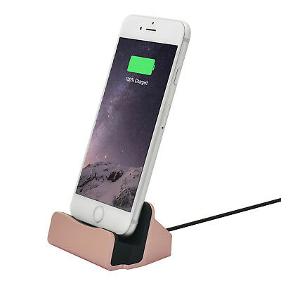 Charging Dock Station Holder Stand Docking Charger for iPhone 5 6 7 Rose Gold PY