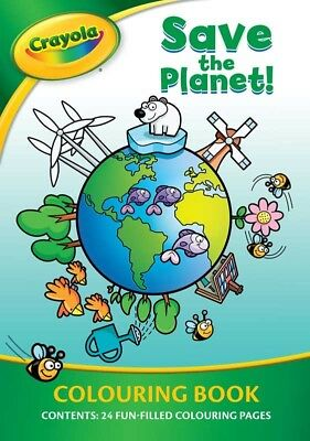 CRAYOLA SAVE THE PLANET COLOURING BOOK 24 Page