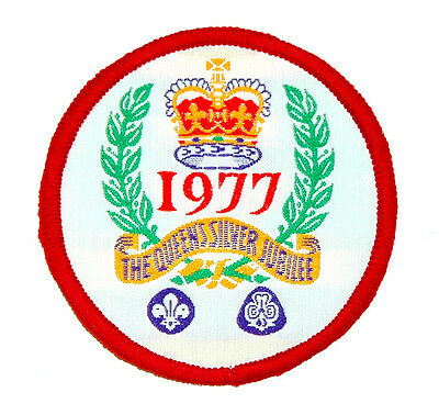 Canadian / English Boy Scouts – Queens Silver Jubilee Badge 1977 – New