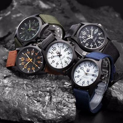 Mens Watches Date Stainless Steel Military Sports Analog Quartz Army Wrist Watch
