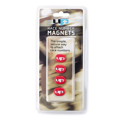 Ultimate Performance Unisex Race Number Magnets - Red Sports Running Lightweight