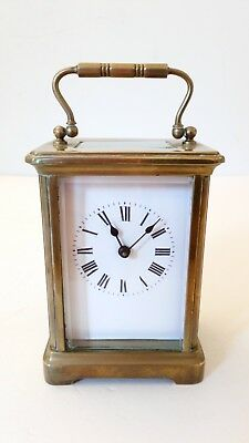 Antique French Mantel Carriage Clock In Good Working Order In Vgc Brass Case