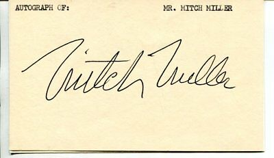 Mitch Miller with COA signed autograph NO RESERVE B4185