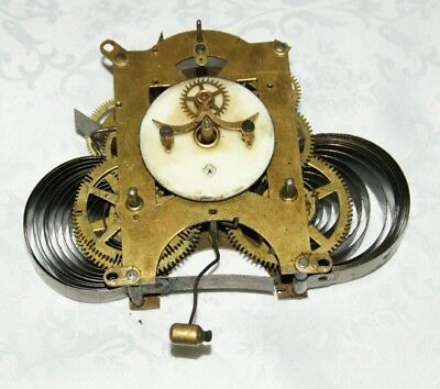 Antique ANSONIA Clock Movement With Visible Escapement, Spares/Repair