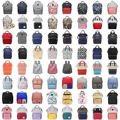 Large Capacity Travel Mummy Nappy Diaper Bag Baby Changing Nursing Backpack Bags