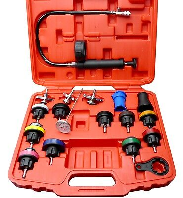 Radiator Pressure Compression Tester Kit 18pc Cooling System Leak Detector Tool