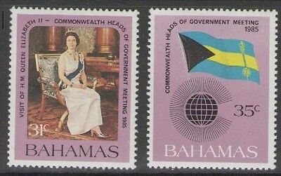 Bahamas Sg718/9 1985 Commonwealth Heads Of Government Meeting Mnh