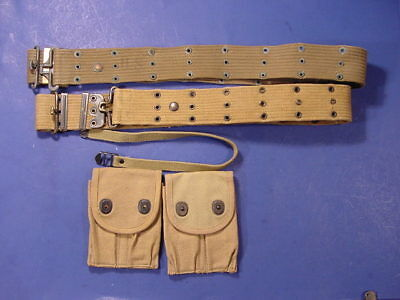 Original WWII and WWI Military gear 1911 Pouches Pistol Belts