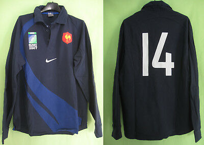 Maillot Rugby Equipe QUINZE de FRANCE World Cup 2007 FFR Nike #14 - M