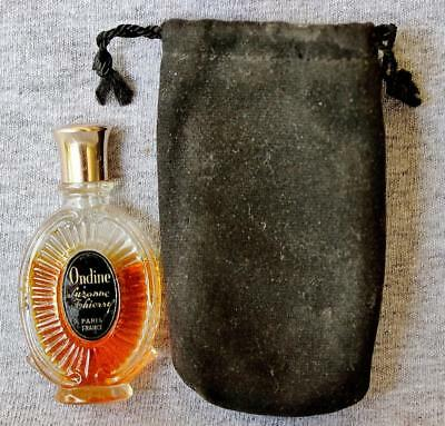 Vtg Ondine by Suzanne Thierry 1954 Mini Miniature Perfume in Bottle + Pouch