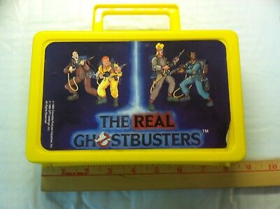 Vintage The Real Ghostbusters Yellow Plastic Case? Lunch Box? 1984 1986 School ?